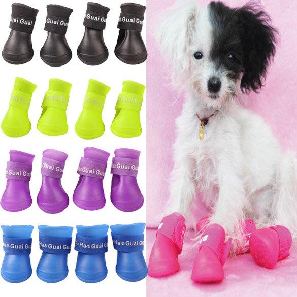Непромокаемые ботинки для собачек (4 шт)