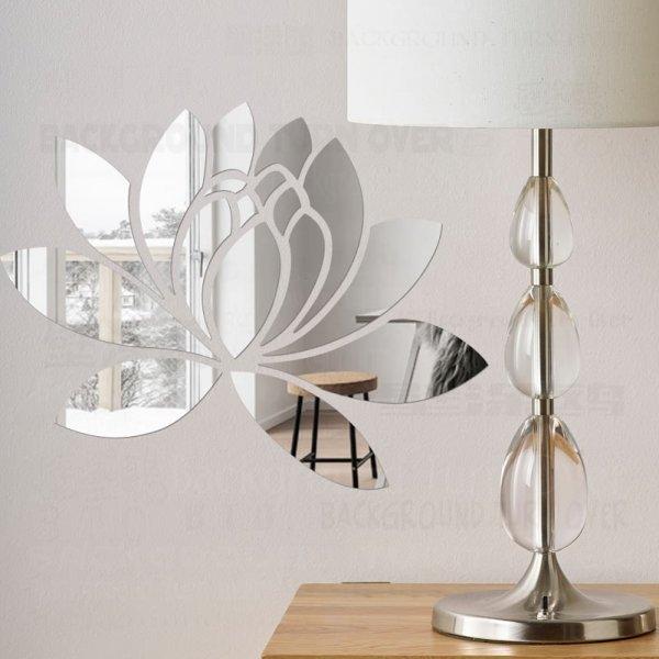 Чудесный зеркальный 3D Цветок  (11 цветов, 5 размеров)