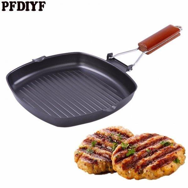 Супер сковорода с толстым дном и складной ручкой PFDIYF (чугун, 24 см)