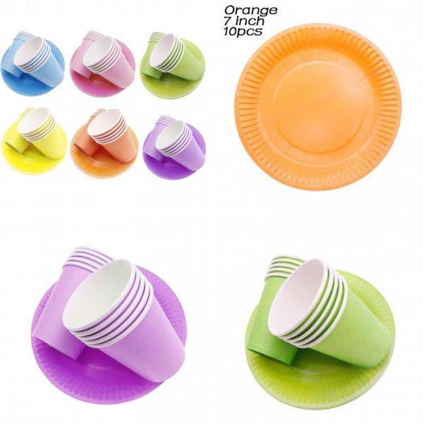 Однотонная одноразовая посуда