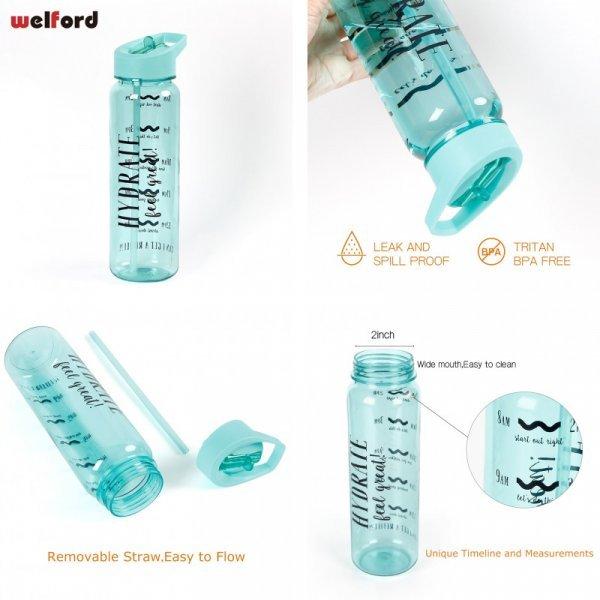 Бутылка для воды с клапаном Welford (750 мл, 8 цветов)