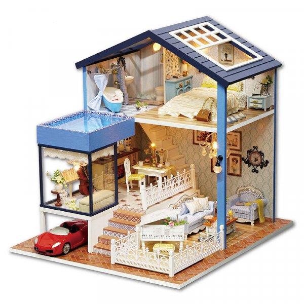 Кукольный Дом в 2 этажа с бассейном такой реалистичный