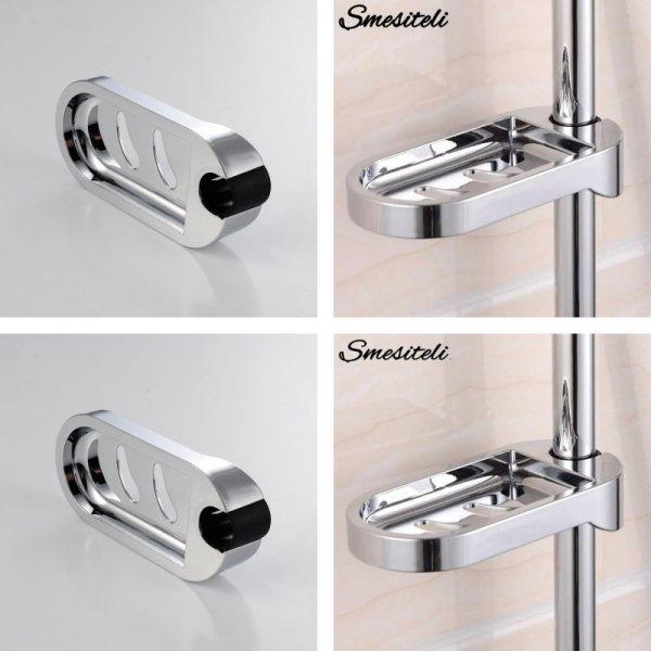 Подвесная мыльница для душа Smesiteli (70*70 мм, для трубы в 24 мм)