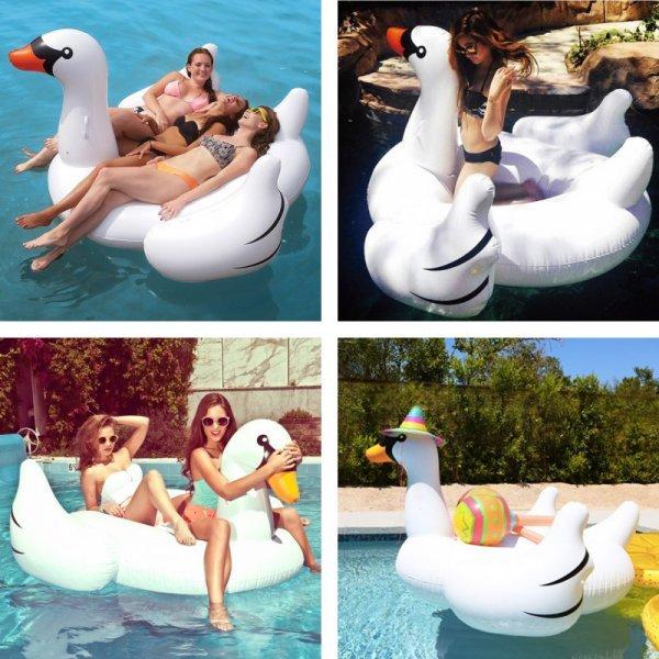 Гигантский надувной Лебедь для веселой компании