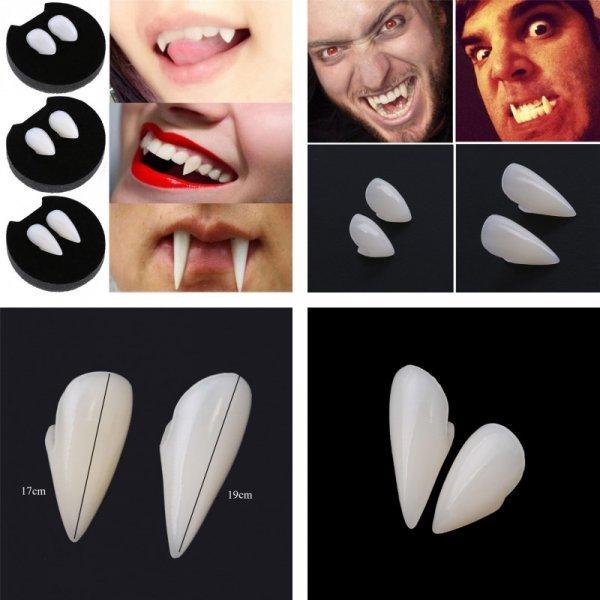 Подготовься к Хэллоуин заранее - накладные Зубы Дракулы (1 пара, 3 размера)