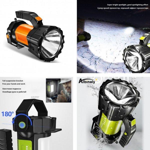 Мощный светодиодный фонарь Albinaly (4 вида)