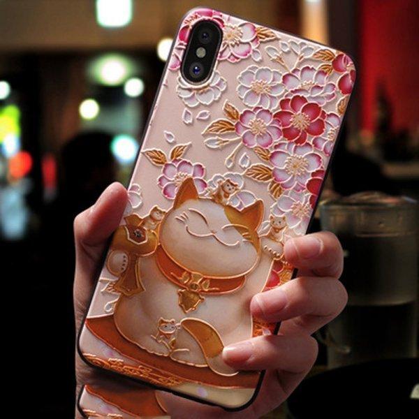 Чехол для смартфона с ярким 3D рисунком Eqvvol (13 цветов)