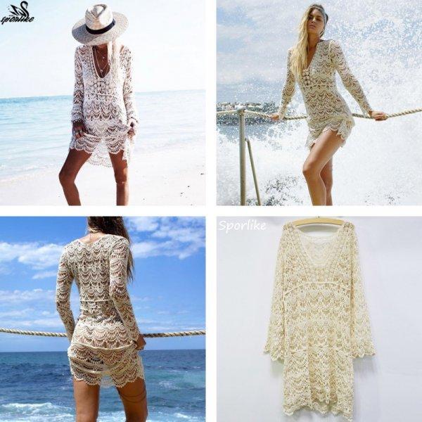Пикантное пляжное платье Кружево (4 цвета, 46-48 р-р)