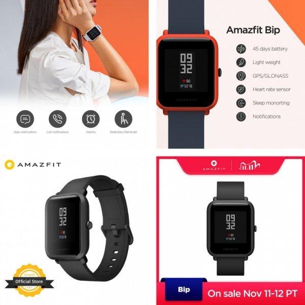 Смарт часы Amazfit с Bluetooth, GPS (4 цвета)