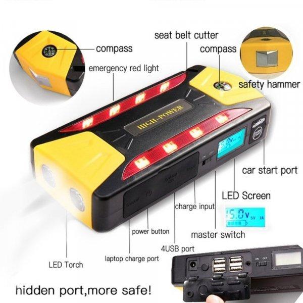 Пусковое устройство для зарядки автоаккумулятора LESHP 82800 мАч