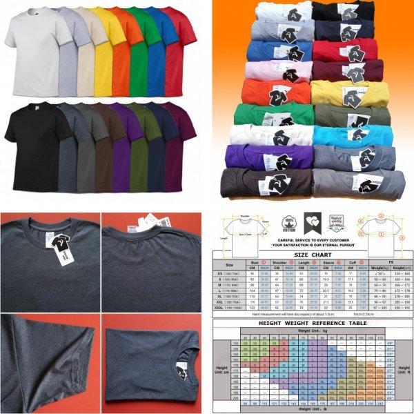 Однотонная мужская футболка YUANQISHUN