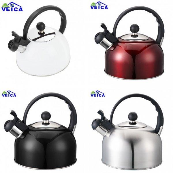 Чайник со свистком VEICA 2 л для всех типов плит  (4 цвета)