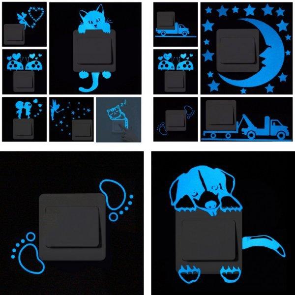 Светоотражающийся стикер на стену DOORSACCERY (27 видов)