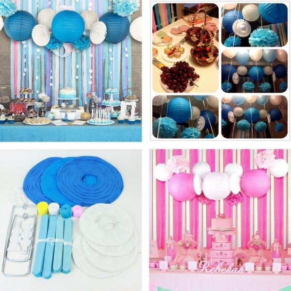 Оригинальный набор украшений для детского дня рождения (2 цвета, 13 предметов)