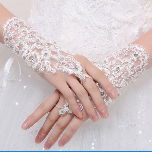 Воздушные митенки для невесты (2 цвета)