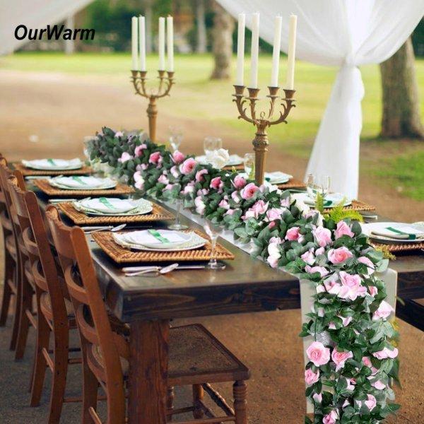 Цветочный венок для свадебного банкета Ourwarm (230 см)