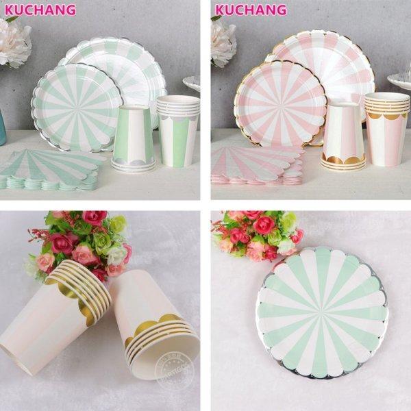 Набор посуды для праздника (40 предметов, 2 цвета)