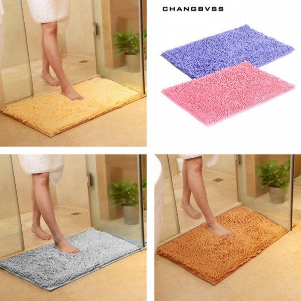 Мягкий коврик в ванную с шикарным ворсом еще и не скользит (12 цветов, 38*58 см, 48*78 см, 58*88 см)