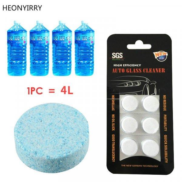 Таблетки для мытья лобового стекла авто HEONYIRRY (2, 6 шт)