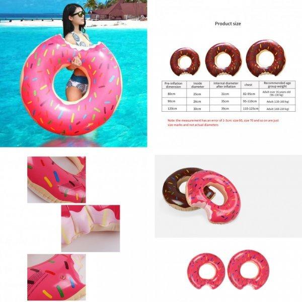 Надувной круг Пончик (2 цвета)