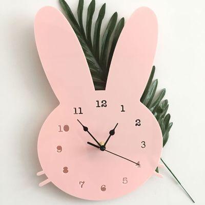 Мимишные настенные часы Кролик (3 цвета, 20*28 см)