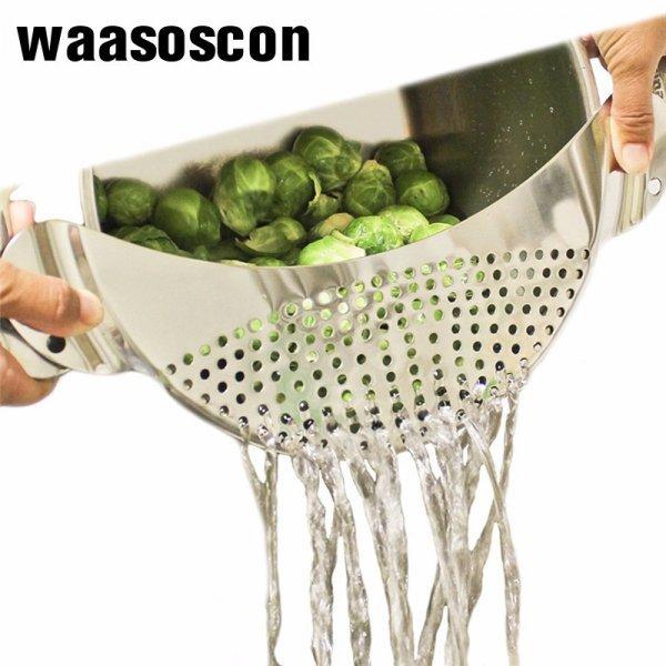 Съемное сито для слива из кастрюли Waasoscon (33.6*13.7*0.8 см)
