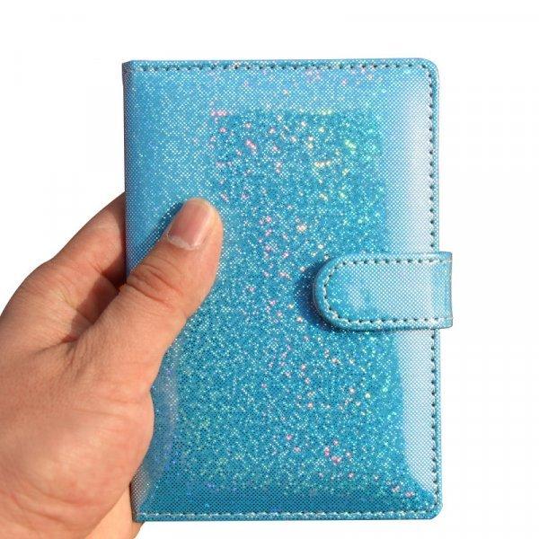 Женская обложка на паспорт с клипом (4 цвета, 9*13 см)