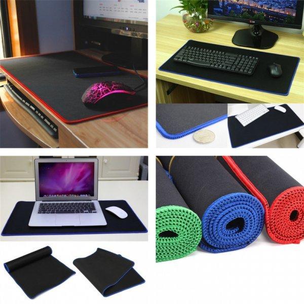 Игровой мат для геймерской мыши и клавиатуры VAKIND (4 цвета кромки, 60*30 см)