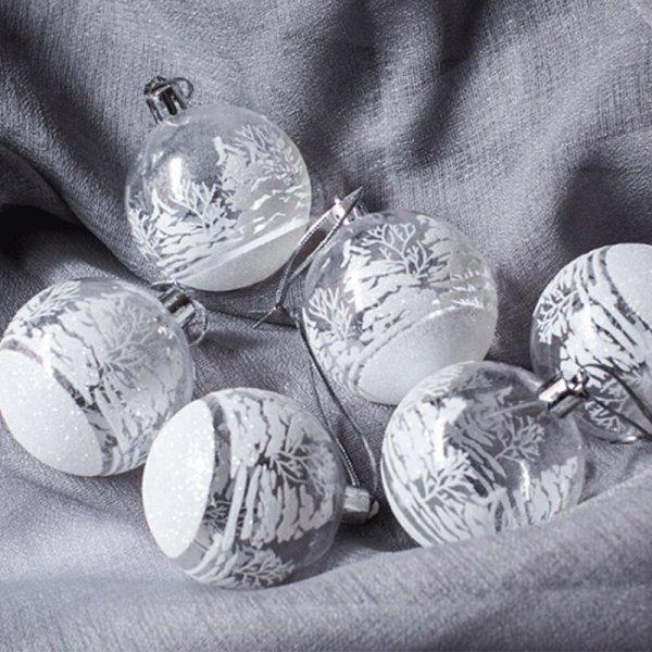 Набор игрушек на елку (6 штук)