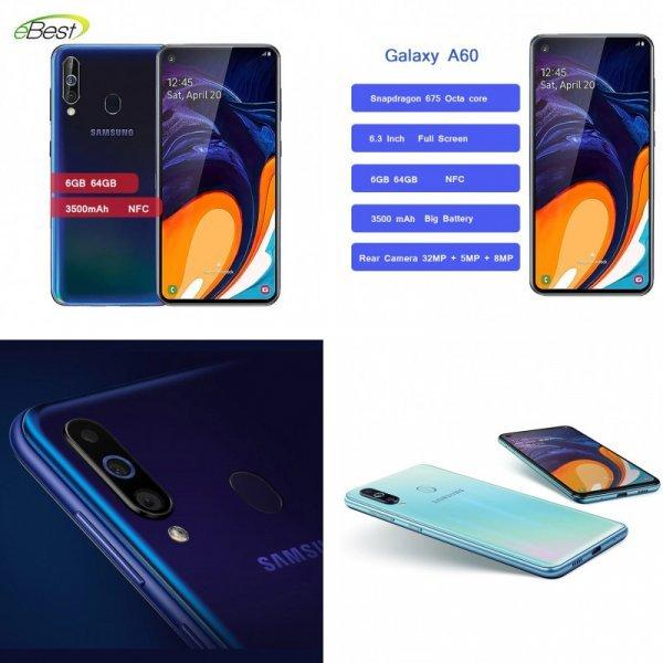 Быстрый смартфон Samsung Galaxy A60 (8 цветов)