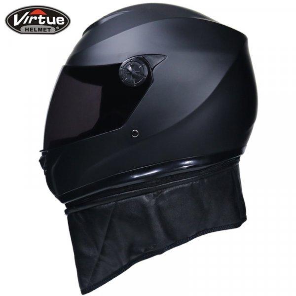 Отличный мотошлем с перчатками и маской VIRTUE (3 размера)