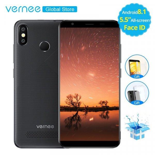 """Телефон с большим аккумулятором Vernee T3 Pro 5,5""""Android 8,1 Quad Core MTK6739WA 4G LTE"""