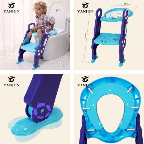 Детское сиденье на унитаз с лестницей 2 в 1 YANJUN (62*36.5 см, до 75 кг)