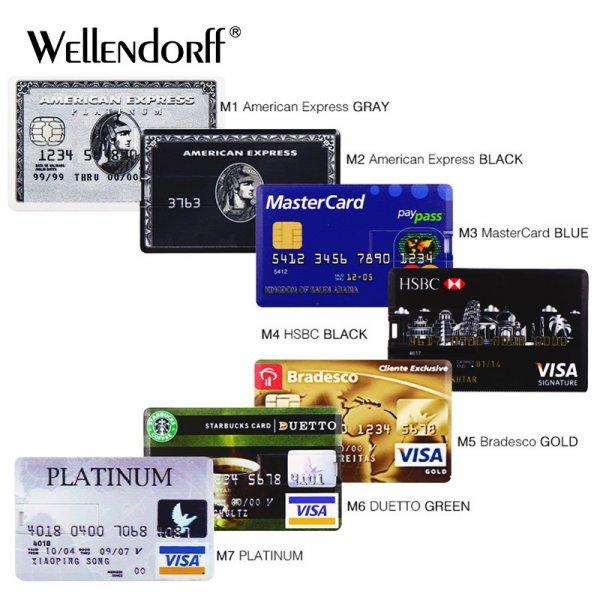 Кредитная карта от WELLENDORFF (USB 2.0, до 128 Гб)