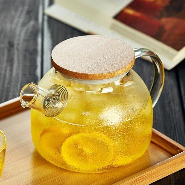 Заварной чайник PEONYFUN можно греть на плите (1,8 л)