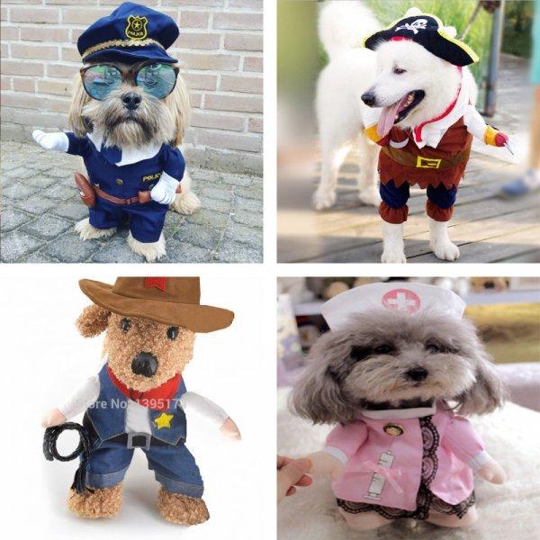 Забавный маскарадный костюм для котов и собак IDEPET ( 8 вариантов)