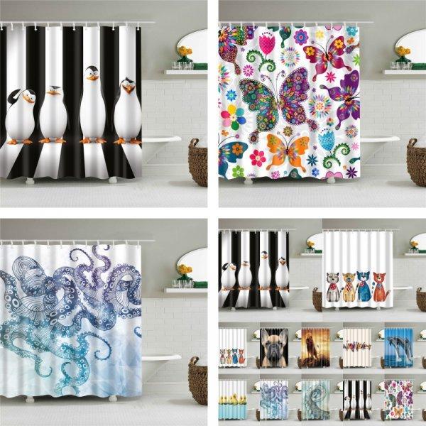 Забавная шторка для душа Show curtains (10 цветов, 4 размера)