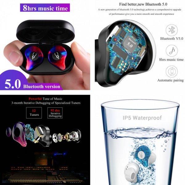 Шикарные  Bluetooth наушники с  3D звуком Glamshine (10 цветов)
