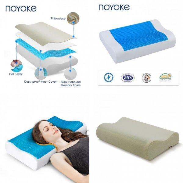 Ортопедическая подушка Noyoke с охлаждением головы