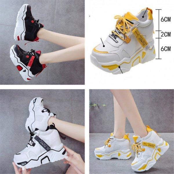 Женские кроссовки на платформе (6 размеров, 3 цвета)