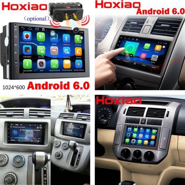 Автомагнитола HoXiao с ЖК-экраном и камерой  (Android 6.0,  2 din, GPS)