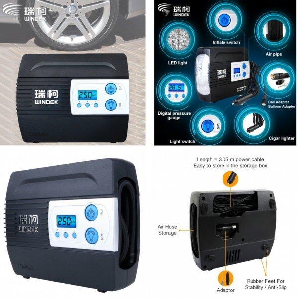 Автомобильный компрессор  с ЖК-дисплеем WINDEK