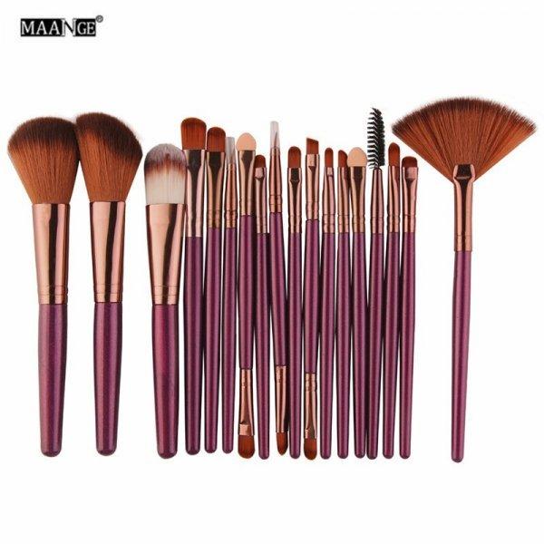 Набор кистей для макияжа MAANGE (19 цветов, 15-18 шт)