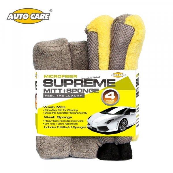 Набор губок для мытья авто  AUTO CARE  4 в 1 - мечта автомобилиста!