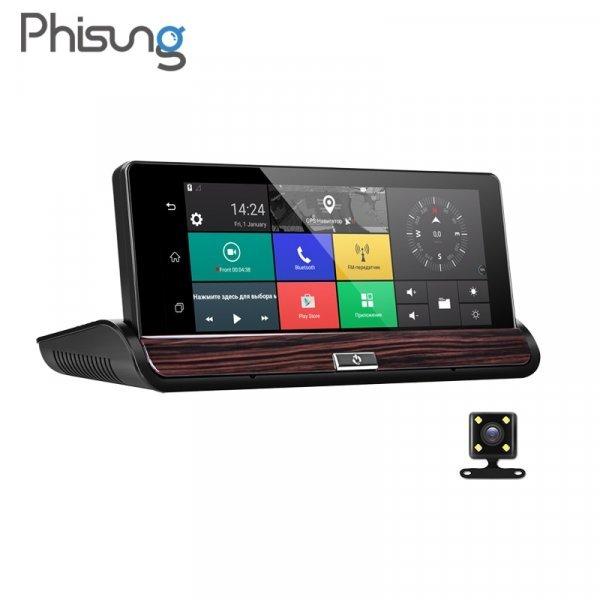 Сенсорный видеорегистратор Phisung V50 7 DVR GPS WI-FI FHD 1080 P