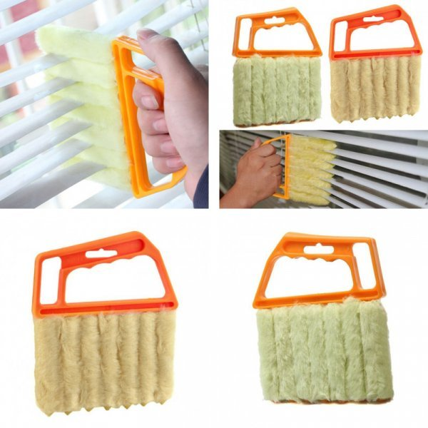 Щетка Aihogard для мытья жалюзи и кондиционера (13.5*16 см.)