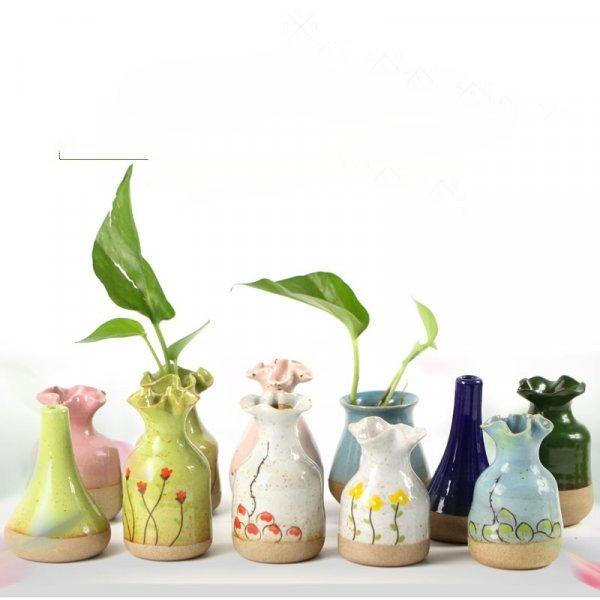 Небольшая ваза ручной работы (22 расцветки)
