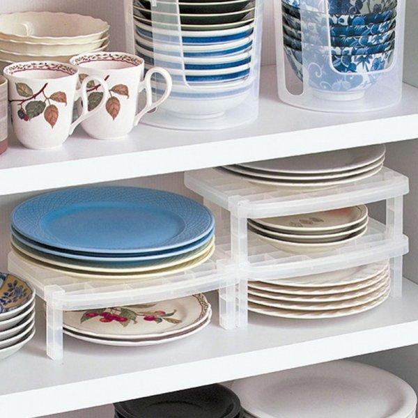 Мини стеллаж для хранения посуды (28x19.5x10 см)