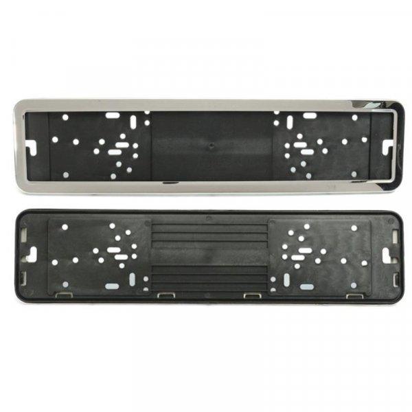 Передний держатель для госномеров авто с рамкой Autoleader (2 шт, 52*11 см)