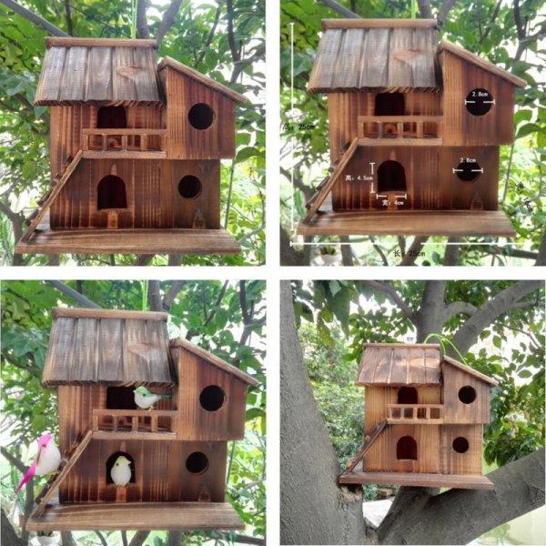 Уличный домик для птиц с кормушкой
